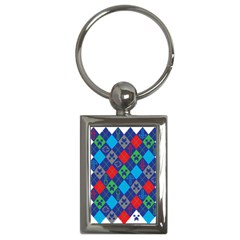 Minecraft Ugly Holiday Christmas Key Chains (rectangle)  by Onesevenart