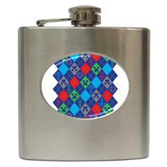 Minecraft Ugly Holiday Christmas Hip Flask (6 Oz) by Onesevenart
