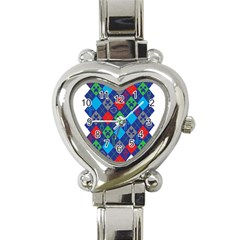 Minecraft Ugly Holiday Christmas Heart Italian Charm Watch by Onesevenart
