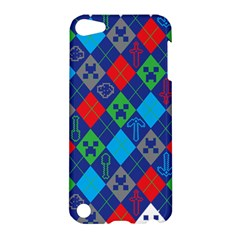 Minecraft Ugly Holiday Christmas Apple Ipod Touch 5 Hardshell Case by Onesevenart