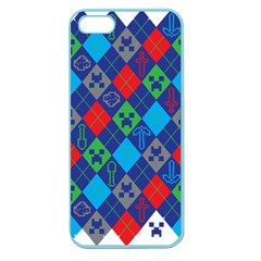 Minecraft Ugly Holiday Christmas Apple Seamless Iphone 5 Case (color) by Onesevenart