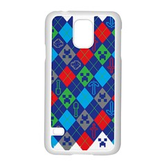 Minecraft Ugly Holiday Christmas Samsung Galaxy S5 Case (white) by Onesevenart