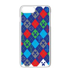 Minecraft Ugly Holiday Christmas Apple Iphone 7 Plus White Seamless Case by Onesevenart