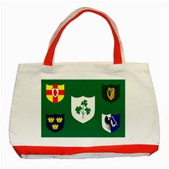 Ireland National Rugby Union Flag Classic Tote Bag (red) by abbeyz71