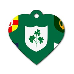 Ireland National Rugby Union Flag Dog Tag Heart (two Sides) by abbeyz71