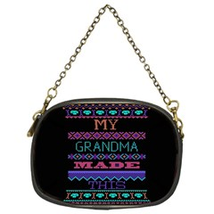 My Grandma Made This Ugly Holiday Black Background Chain Purses (one Side)  by Onesevenart