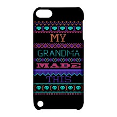My Grandma Made This Ugly Holiday Black Background Apple Ipod Touch 5 Hardshell Case With Stand by Onesevenart