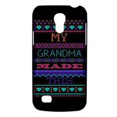 My Grandma Made This Ugly Holiday Black Background Galaxy S4 Mini by Onesevenart