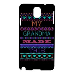 My Grandma Made This Ugly Holiday Black Background Samsung Galaxy Note 3 N9005 Hardshell Case by Onesevenart