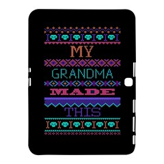 My Grandma Made This Ugly Holiday Black Background Samsung Galaxy Tab 4 (10 1 ) Hardshell Case  by Onesevenart