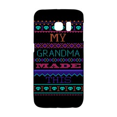 My Grandma Made This Ugly Holiday Black Background Galaxy S6 Edge by Onesevenart