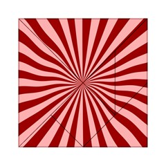 Sun Background Optics Channel Red Acrylic Tangram Puzzle (6  x 6 ) by Vayuart
