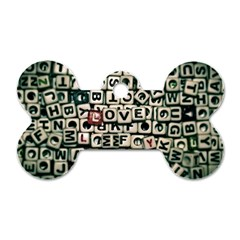 Love Dog Tag Bone (two Sides) by JellyMooseBear