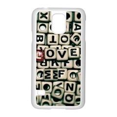 Love Samsung Galaxy S5 Case (white) by JellyMooseBear