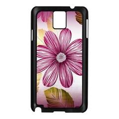 Flower Print Fabric Pattern Texture Samsung Galaxy Note 3 N9005 Case (Black)