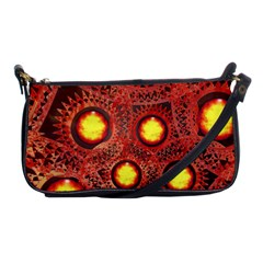 Mechanical Universe Shoulder Clutch Bags by linceazul