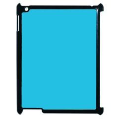 Neon Color   Brilliant Arctic Blue Apple Ipad 2 Case (black) by tarastyle
