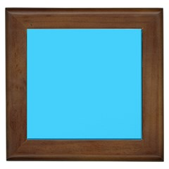 Neon Color   Brilliant Cerulean Framed Tiles by tarastyle