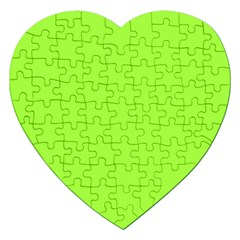 Neon Color   Brilliant Charteuse Green Jigsaw Puzzle (heart) by tarastyle