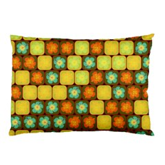 Random Hibiscus Pattern Pillow Case (two Sides) by linceazul
