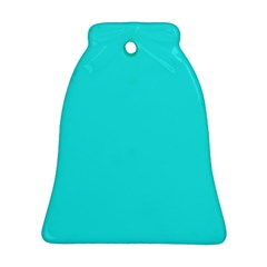 Neon Color   Brilliant Cyan Bell Ornament (two Sides) by tarastyle