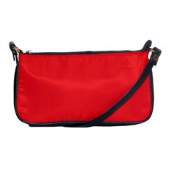 Neon Color   Brilliant Red Shoulder Clutch Bags by tarastyle