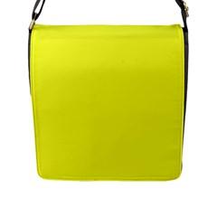 Neon Color   Brilliant Yellow Flap Messenger Bag (l)  by tarastyle