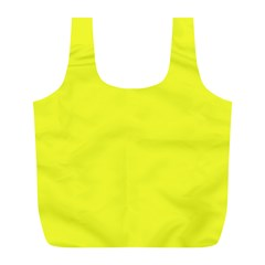 Neon Color   Brilliant Yellow Full Print Recycle Bags (l)  by tarastyle
