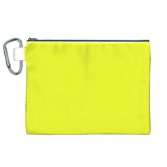 Neon Color   Brilliant Yellow Canvas Cosmetic Bag (xl) by tarastyle