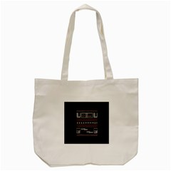 Old School Ugly Holiday Christmas Black Background Tote Bag (cream) by Onesevenart
