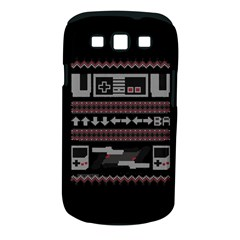 Old School Ugly Holiday Christmas Black Background Samsung Galaxy S Iii Classic Hardshell Case (pc+silicone) by Onesevenart