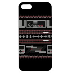 Old School Ugly Holiday Christmas Black Background Apple Iphone 5 Hardshell Case With Stand by Onesevenart