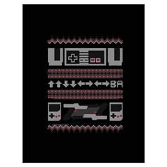 Old School Ugly Holiday Christmas Black Background Drawstring Bag (large) by Onesevenart