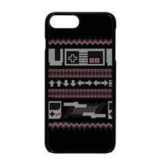 Old School Ugly Holiday Christmas Black Background Apple Iphone 7 Plus Seamless Case (black) by Onesevenart