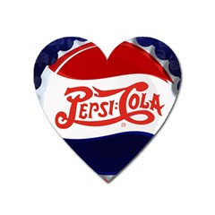 Pepsi Cola Heart Magnet by Onesevenart