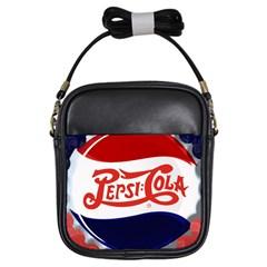 Pepsi Cola Girls Sling Bags by Onesevenart