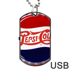 Pepsi Cola Dog Tag Usb Flash (two Sides) by Onesevenart