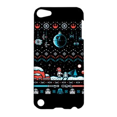That Snow Moon Star Wars  Ugly Holiday Christmas Black Background Apple Ipod Touch 5 Hardshell Case by Onesevenart