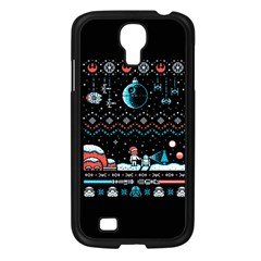 That Snow Moon Star Wars  Ugly Holiday Christmas Black Background Samsung Galaxy S4 I9500/ I9505 Case (black) by Onesevenart
