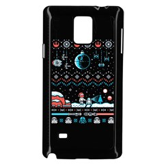 That Snow Moon Star Wars  Ugly Holiday Christmas Black Background Samsung Galaxy Note 4 Case (black) by Onesevenart