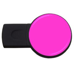 Neon Color   Light Brilliant Fuchsia Usb Flash Drive Round (2 Gb) by tarastyle