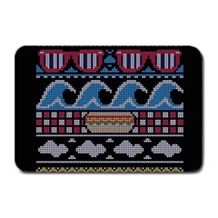Ugly Summer Ugly Holiday Christmas Black Background Plate Mats by Onesevenart