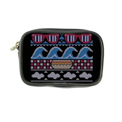 Ugly Summer Ugly Holiday Christmas Black Background Coin Purse by Onesevenart
