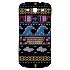 Ugly Summer Ugly Holiday Christmas Black Background Samsung Galaxy S3 S Iii Classic Hardshell Back Case