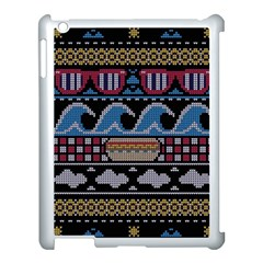 Ugly Summer Ugly Holiday Christmas Black Background Apple Ipad 3/4 Case (white) by Onesevenart