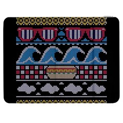 Ugly Summer Ugly Holiday Christmas Black Background Samsung Galaxy Tab 7  P1000 Flip Case by Onesevenart