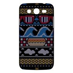 Ugly Summer Ugly Holiday Christmas Black Background Samsung Galaxy Mega 5 8 I9152 Hardshell Case  by Onesevenart