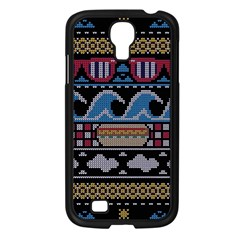 Ugly Summer Ugly Holiday Christmas Black Background Samsung Galaxy S4 I9500/ I9505 Case (black) by Onesevenart