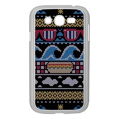 Ugly Summer Ugly Holiday Christmas Black Background Samsung Galaxy Grand Duos I9082 Case (white) by Onesevenart