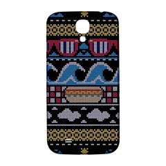 Ugly Summer Ugly Holiday Christmas Black Background Samsung Galaxy S4 I9500/i9505  Hardshell Back Case by Onesevenart